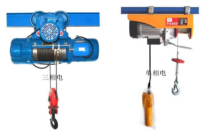 单相和三相电动葫芦的区别-北京市凌鹰起重机械有限